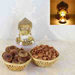 Diwali Hampers-Shadow Diya with Dry Fruits Combo