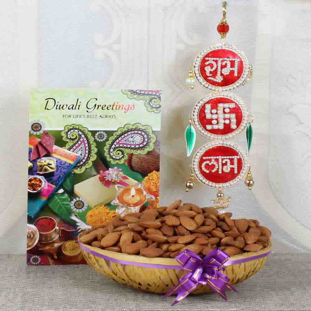 Shubh Labh Hanging with Almond and Greeting Card