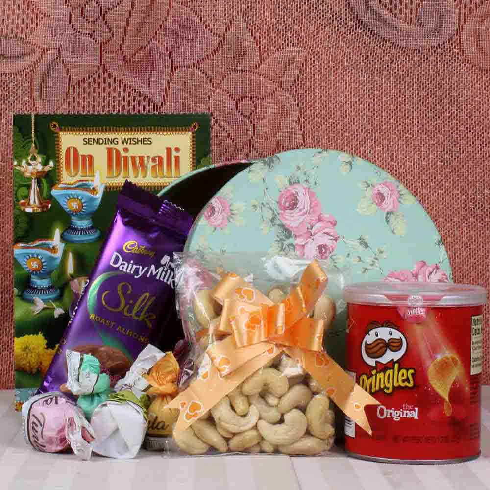 Dryfruit and chocolate hamper for Diwali