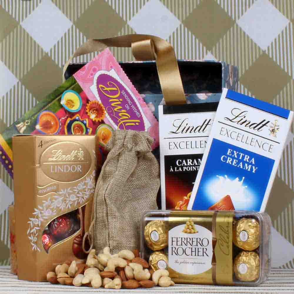 Lindt Rocher and Dryfruit hamper