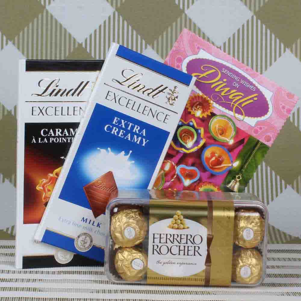 Diwali Hampers-Lindt and Rocher hamper