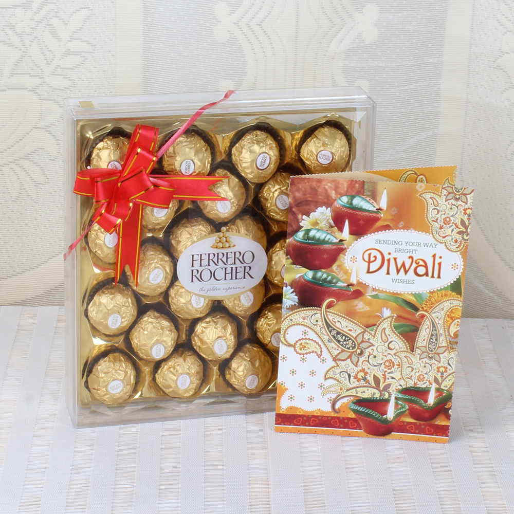 Diwali Greeting Card with Ferrero Rocher Chocolates