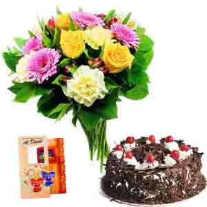 Flowers & Cakes-Dipawali Celebration with Cake and Flowers