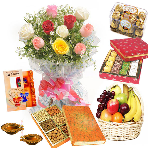 Sweets and Rocher Chocolates with Dry Fruits