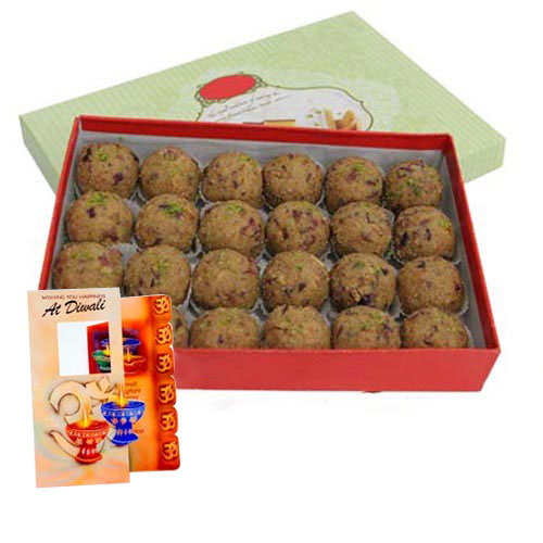 Diwali Special Box of Besan Ladoo with Card