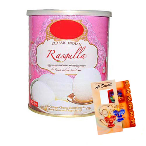 Diwali Hamper of Card with Rasgulla