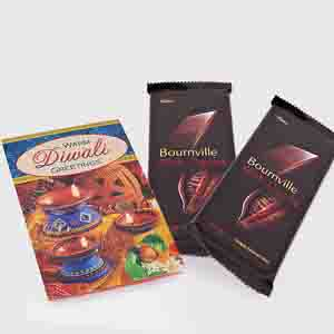 Floral Hampers-Cadbury Bournville with Diwali Card