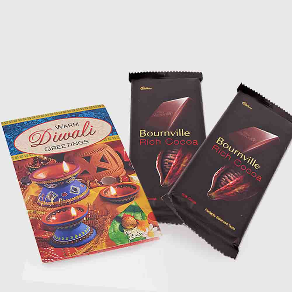 Cadbury Bournville with Diwali Card