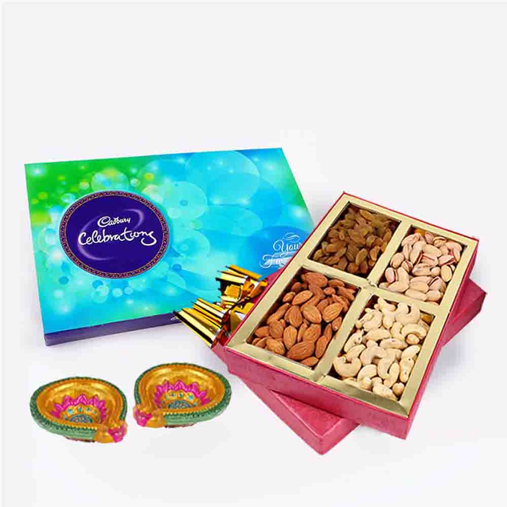 Assorted Dry fruits and Cadbury Celebration