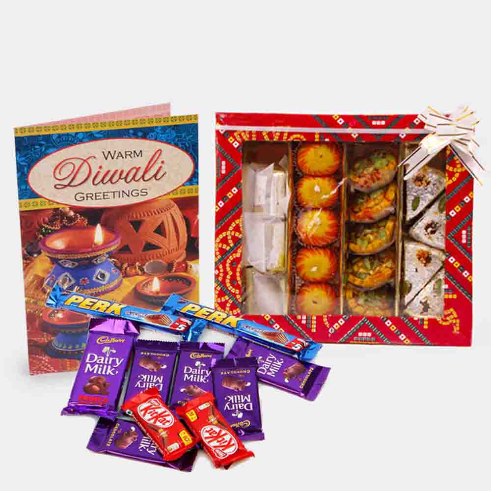 Assorted Sweet with 10 Assorted Indian chocolates
