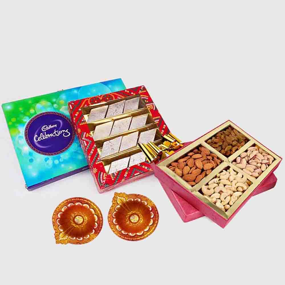 Cadbury Celebration Pack with Kaju Katli Sweet