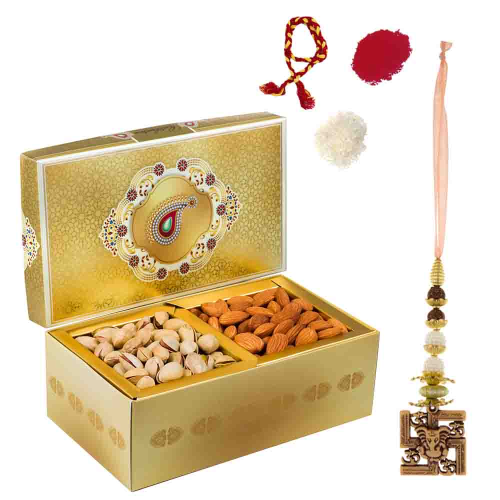 Golden Glow Roasted Pistachios Almonds Delight Gift Box