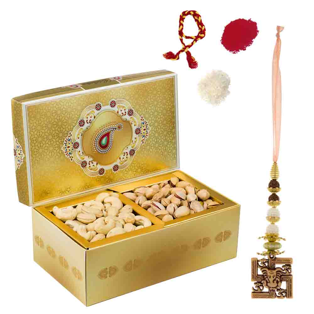 Golden Glow Cashewnuts Roasted Pistachios Delight Gift Box