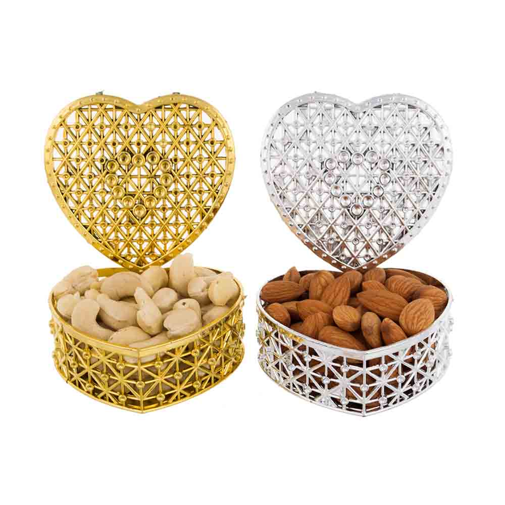Cashew Almond Hearts Gift Boxes