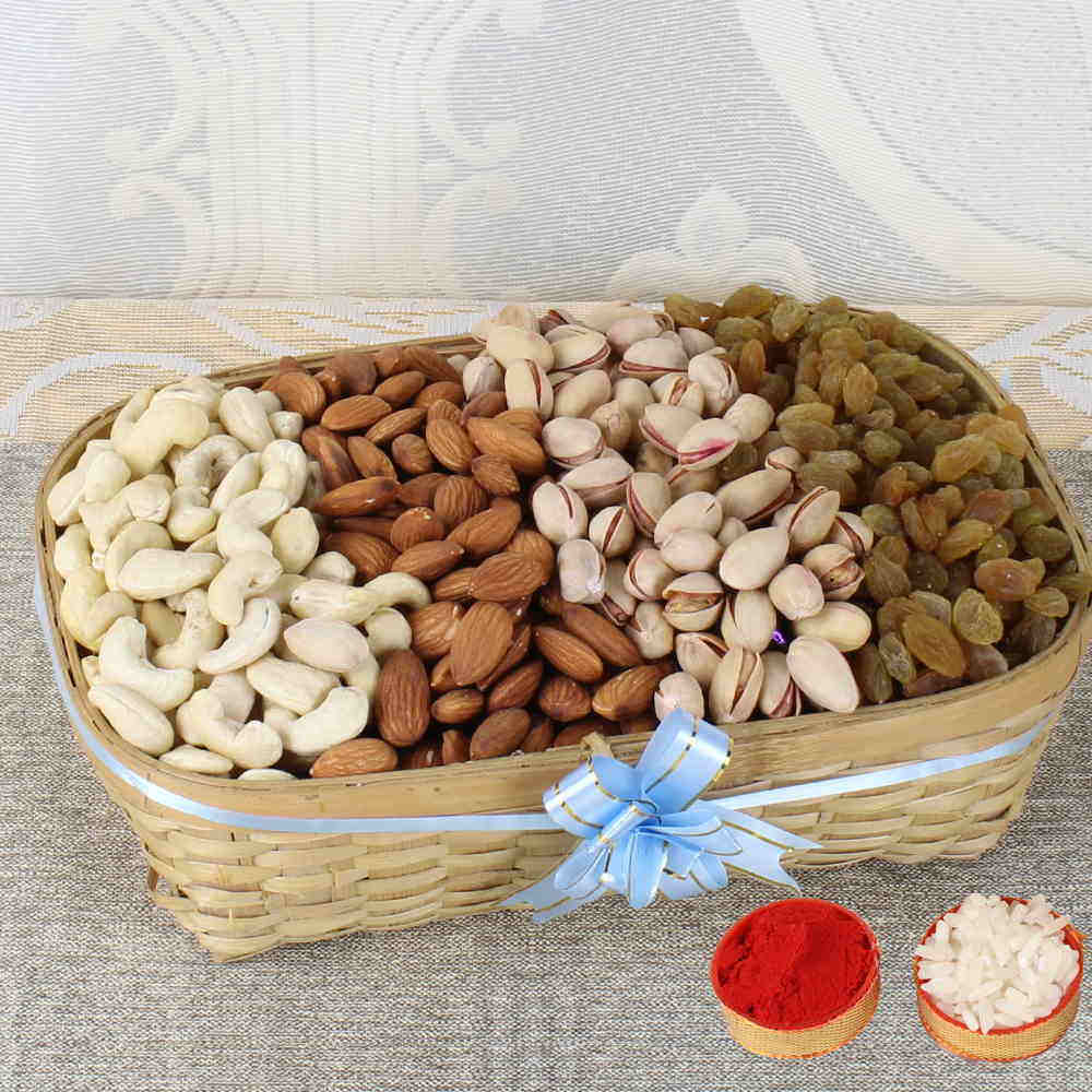 Bhai Dooj Tikka with Mix Dry Fruits Basket