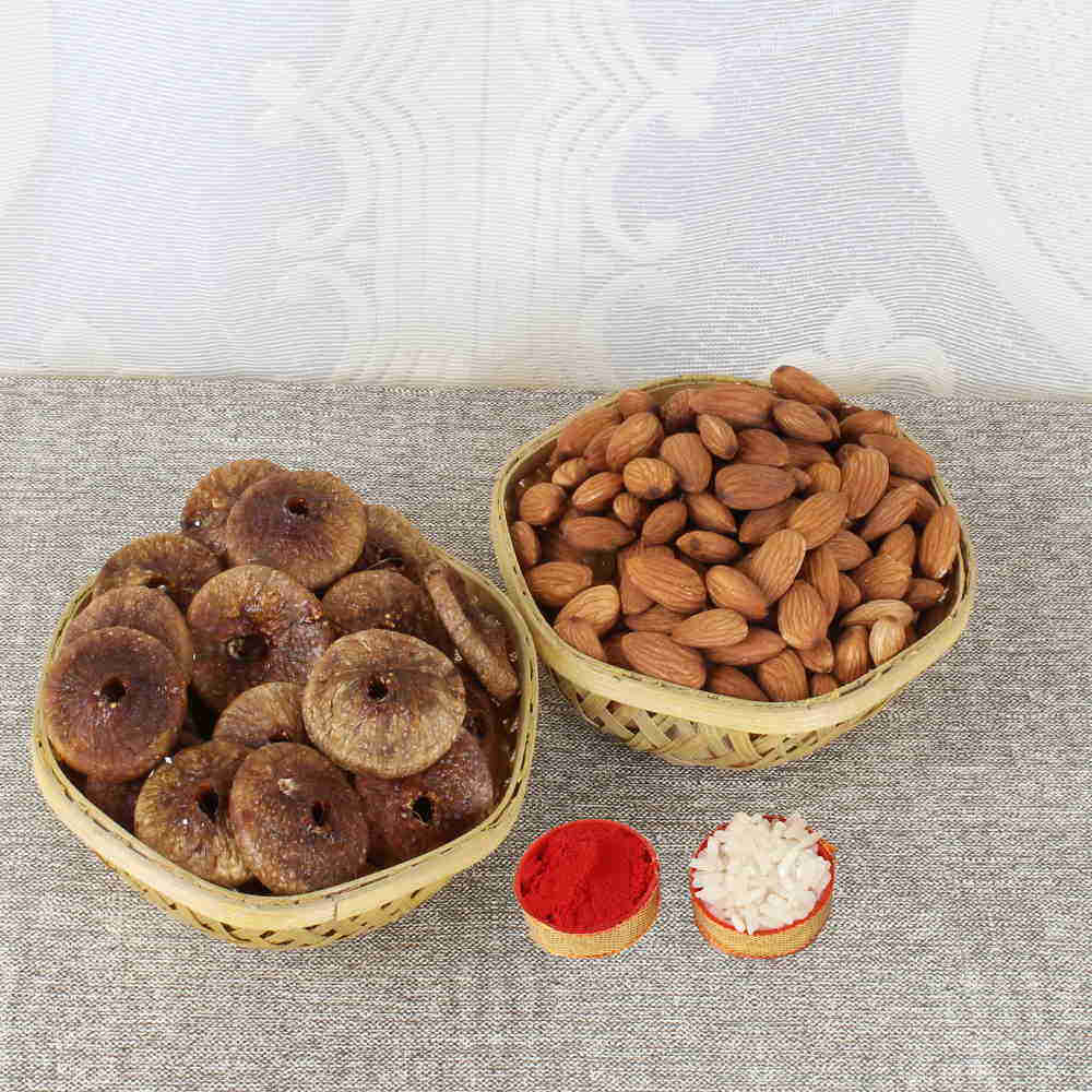 Bhai Dooj Gift Basket of Healthy Almond and Anjeer