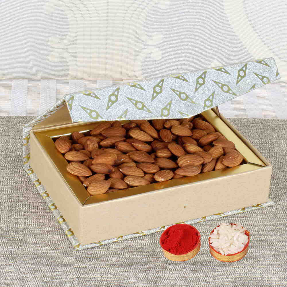 Bhai Dooj Gift of Tikka and Crunchy Almonds