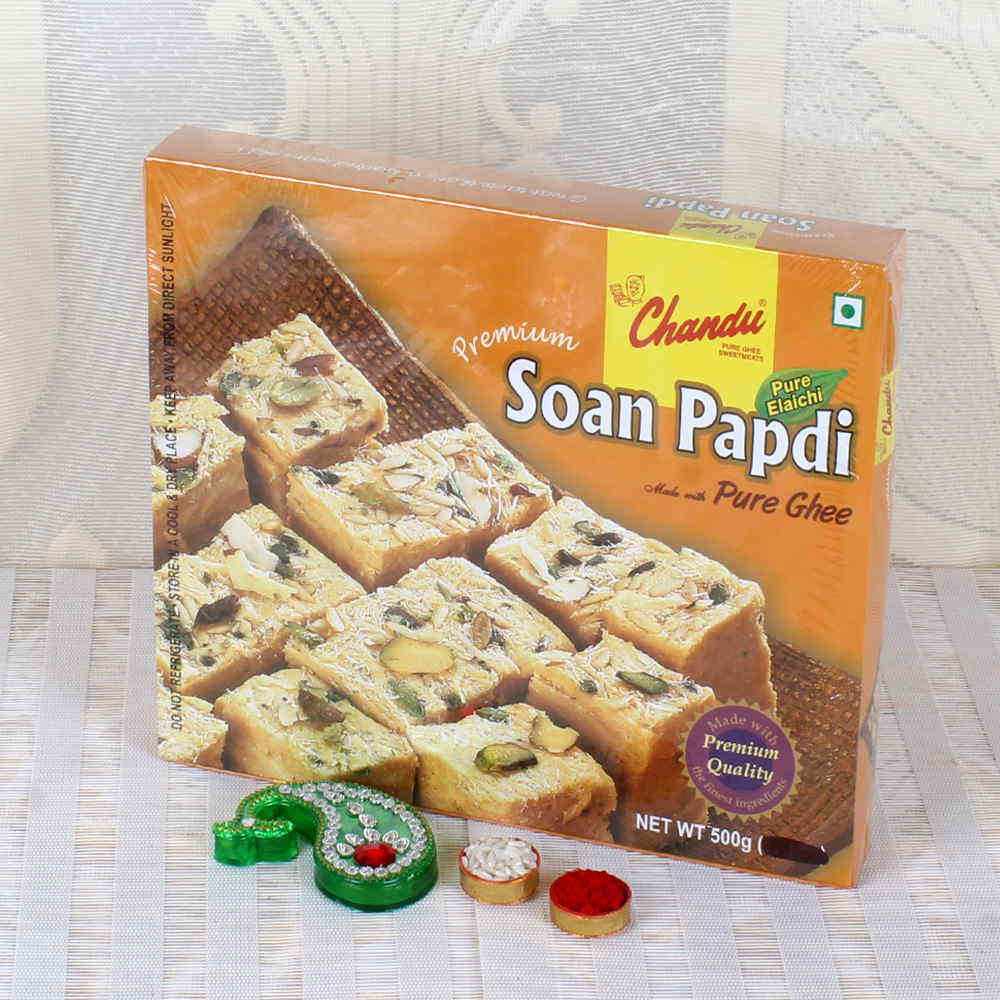 Bhai Dooj Soan Papdi with Tikka Hamper