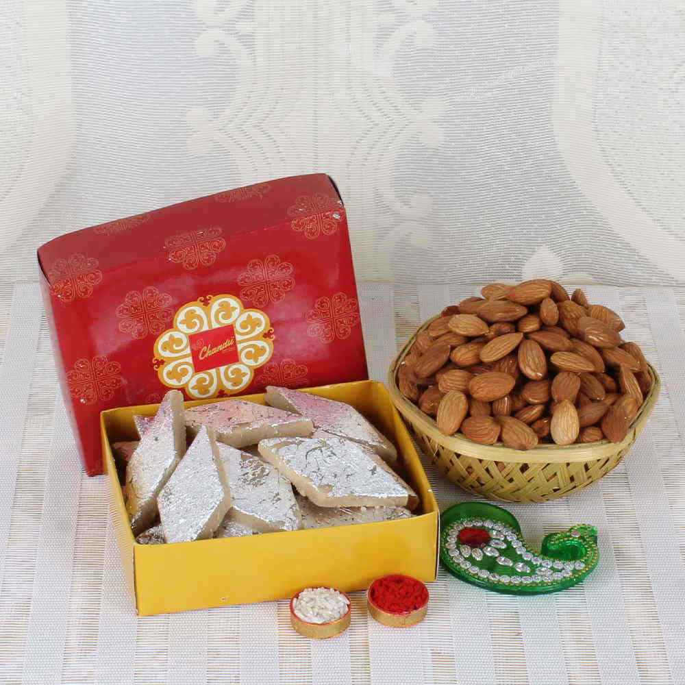 Bhai Dooj Exclusive Sweet and Dryfruit Basket