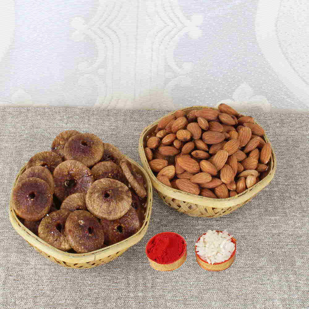 Bhai Dooj Combo of Almond and Dry Fig
