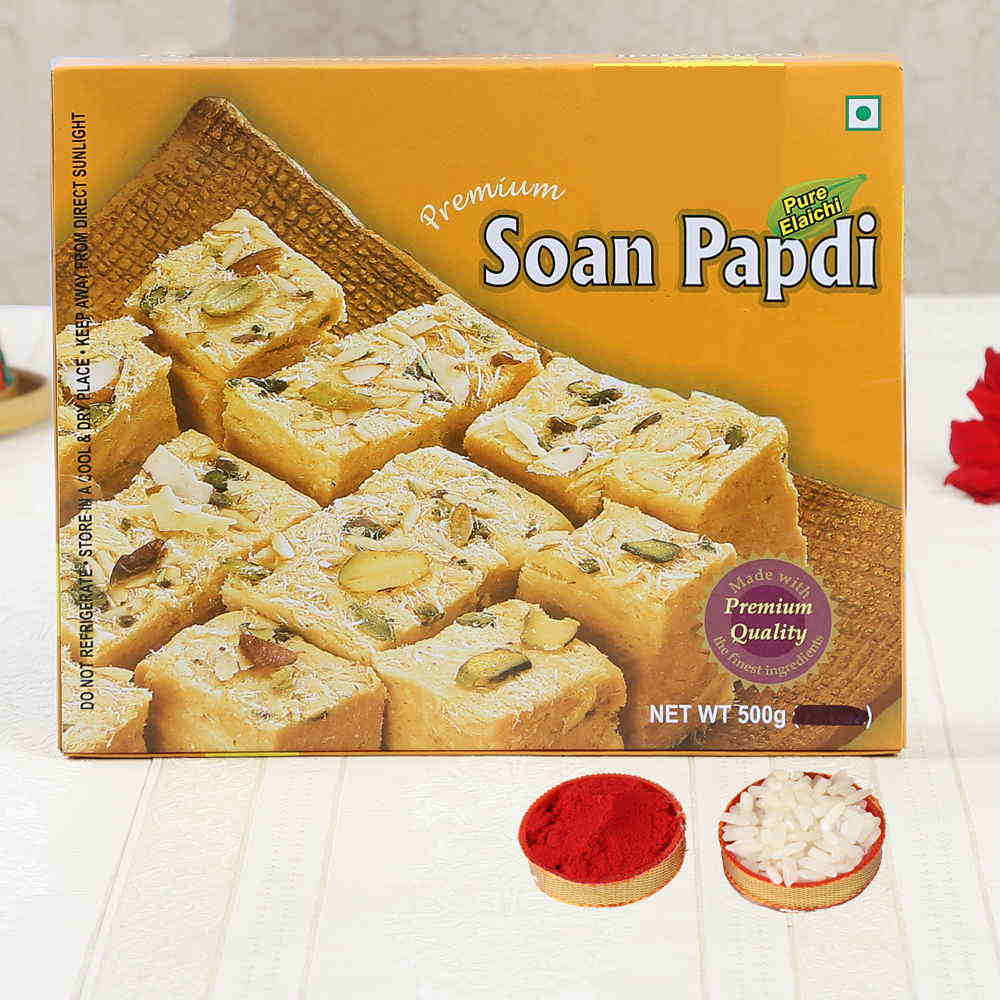 Bhai Dooj Express Gift of Yummy Soan Papdi