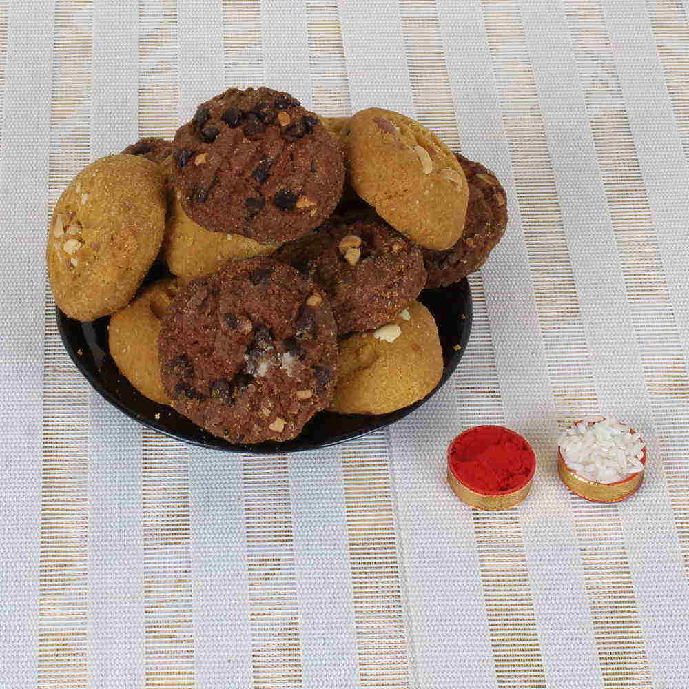 Bhai Dooj Express Delivery of Crunchy Cookies