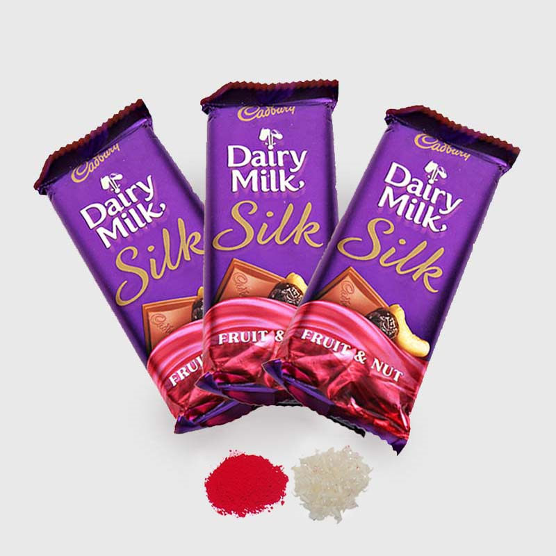 3 Bars of Cadbury Dairy Milk Silk Chocolate for Bhai Dooj