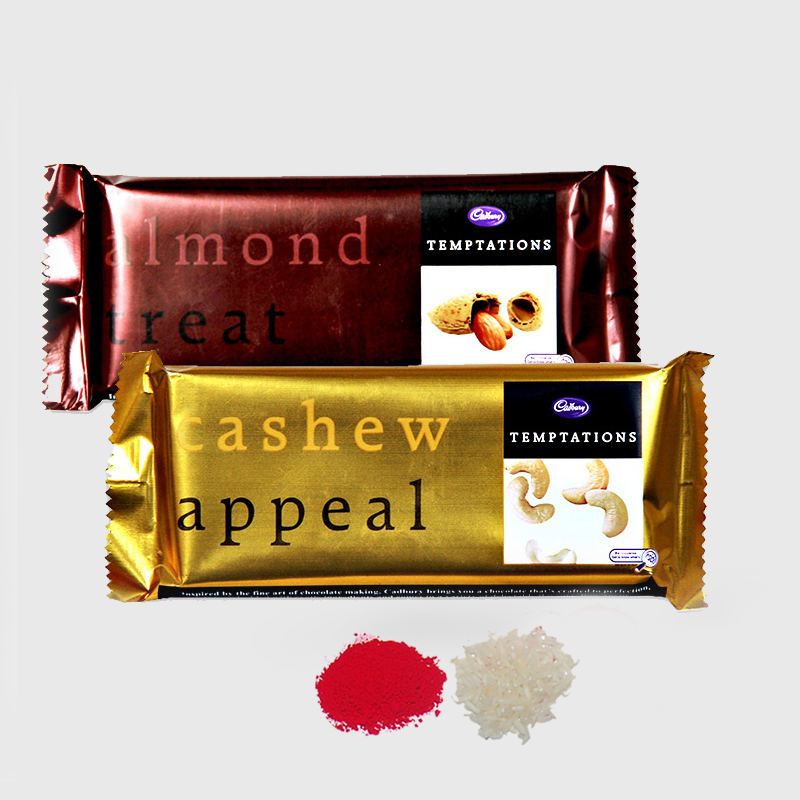 2 Bars of Temptations Chocolate for Bhai Dooj