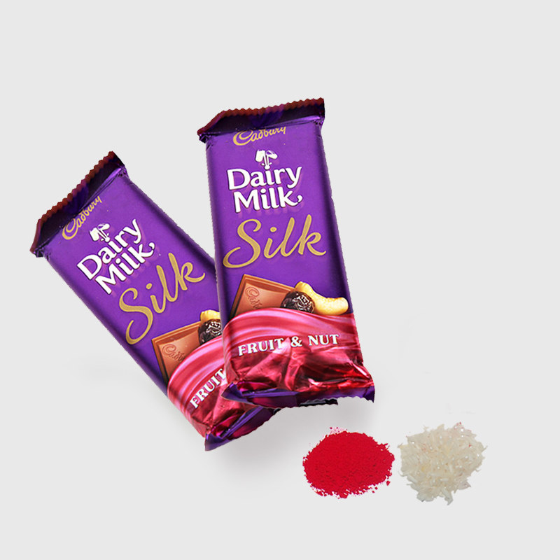 2 Bars of Cadbury Dairy Milk Silk Chocolate for Bhai Dooj