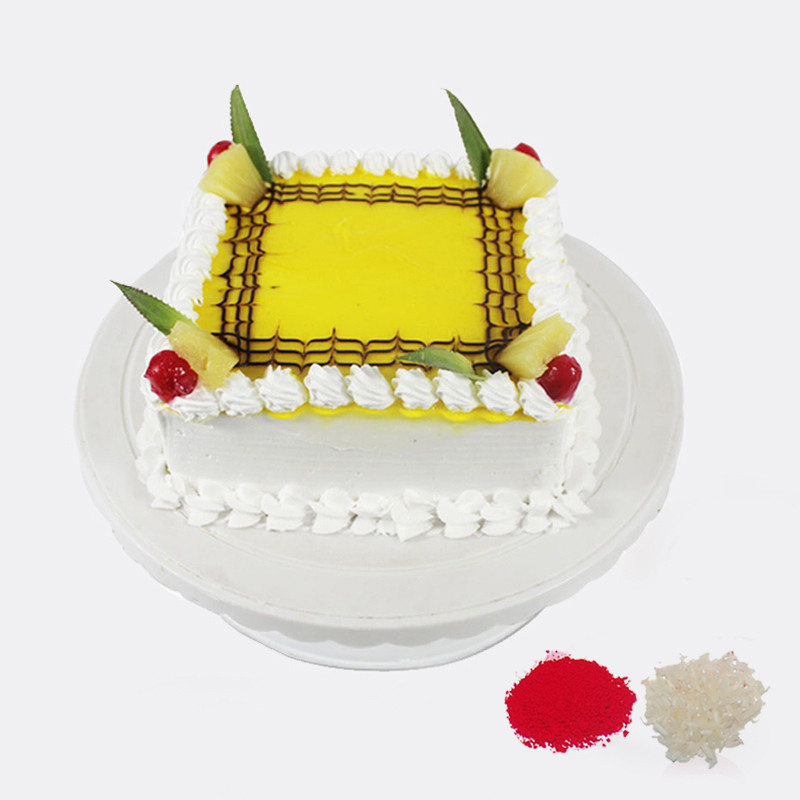 Eggless Pineapple Cake For Bhaidooj