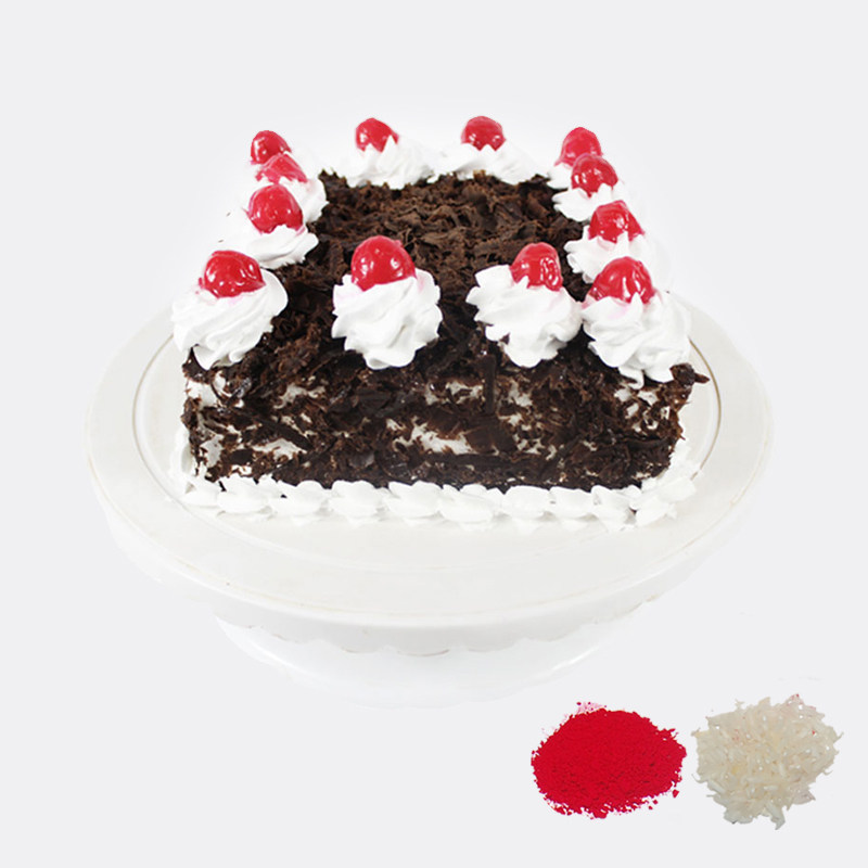 Eggless Black Forest Cake For Bhaidooj