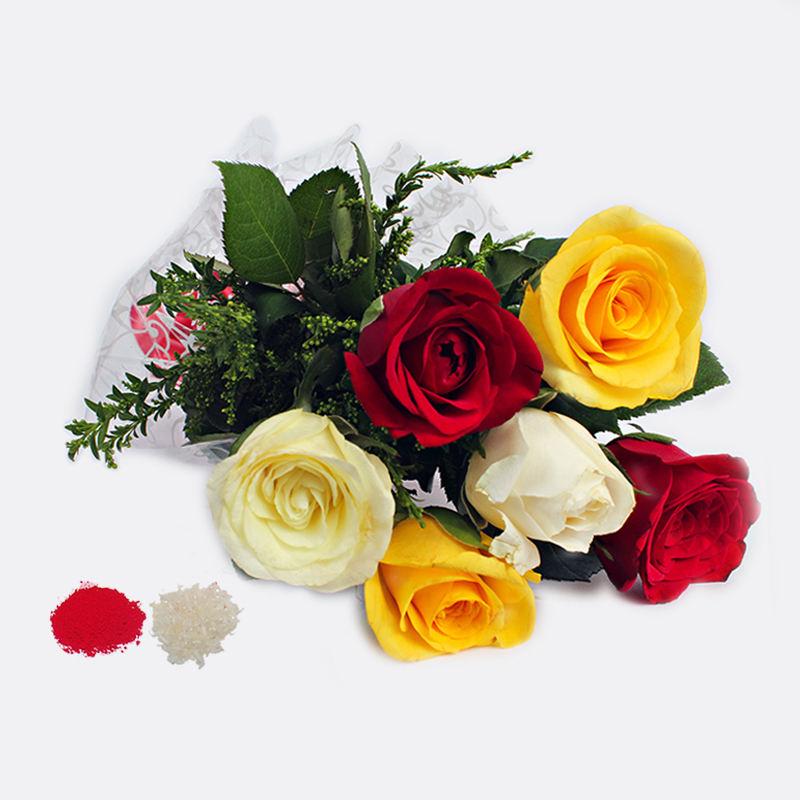 6 Mix Roses Bouquet for Brothers