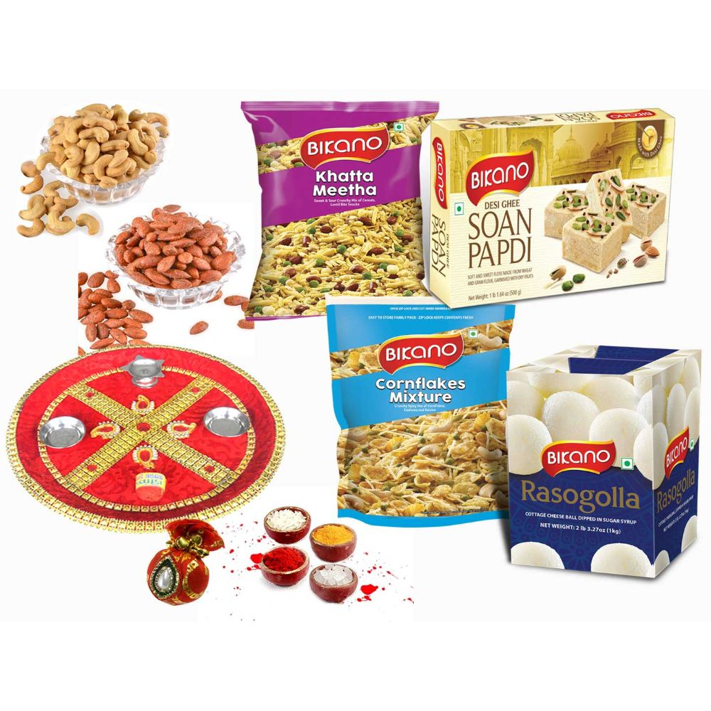 Bikanervala All time and dryfruits with puja thali