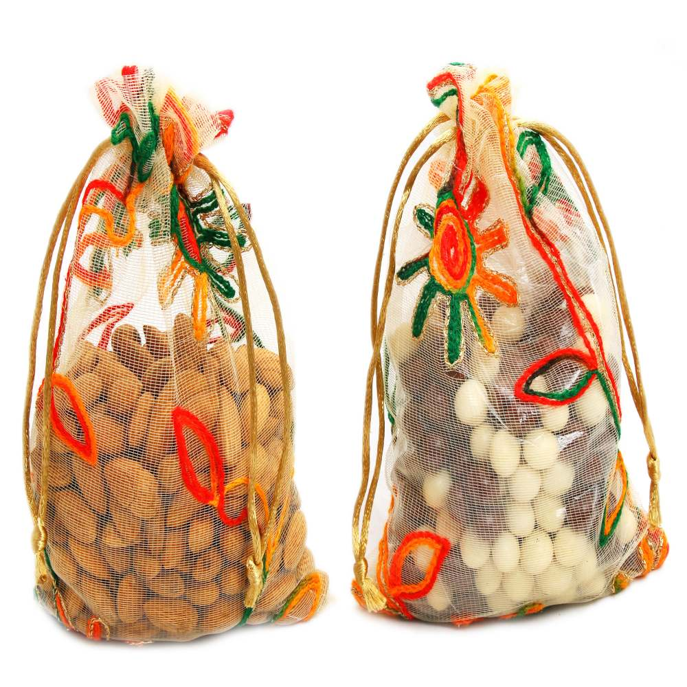 Diwali Hampers- Almonds and Nutties Net Pouch