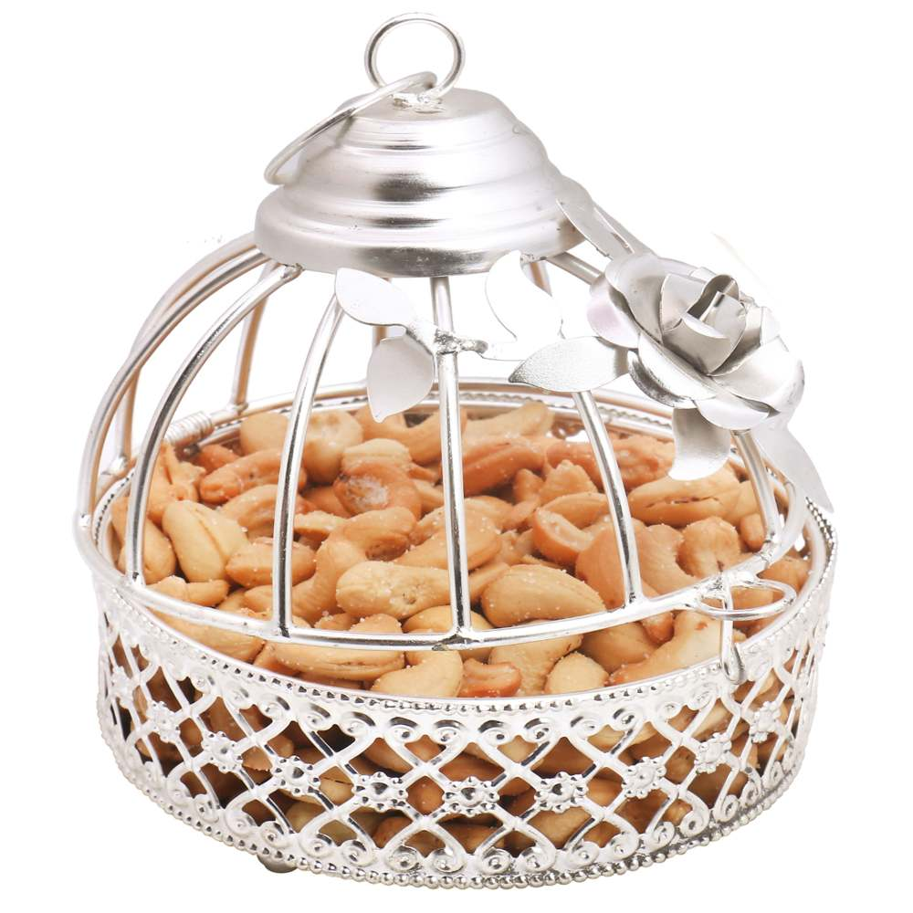 Diwali Dryfruits Hampers- Silver Roasted Cashews Cage