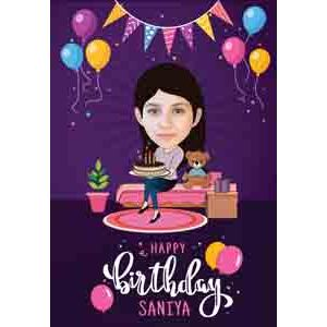 Digital Gifts-online birthday caricature for her