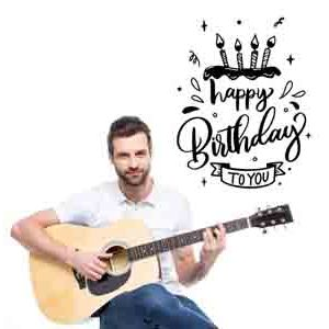 Digital Gifts-Birthday Special Guitarist on Video Call 10 15 Mins