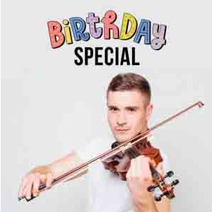 Digital Gifts-Birthday Special Violinist on Video Call 10 15 Mins