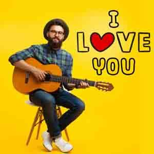 Digital Gifts-I Love You Special Guitarist on Video Call 10 15 Mins