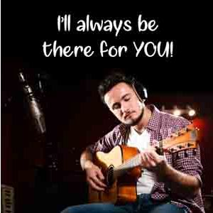 Virtual Gifts-There For You Special Guitarist on Video Call 20 30 Mins