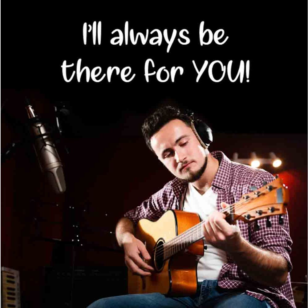 Digital Gifts-There For You Special Guitarist on Video Call 20 30 Mins