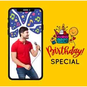Digital Gifts-Birthday Songs on Video Call 10 15 Mins