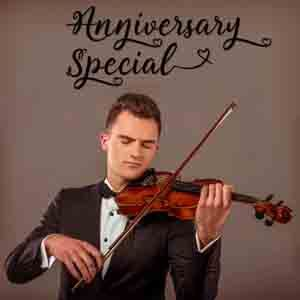 Digital Gifts-Anniversary Special Violinist on Video Call 10 15 Mins