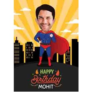 Digital Gifts-superman caricature for birthday