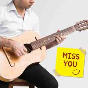 Virtual Gifts-Miss You Special Guitarist on Video Call 10 15 Mins