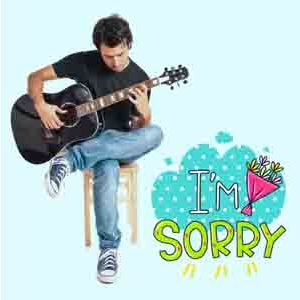 Digital Gifts-Sorry Special Guitarist on Video Call 10 15 Mins