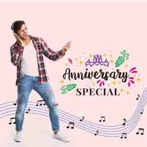 Digital Gifts-Anniversary Songs on Video Call 10 15 Mins