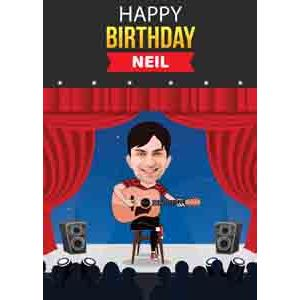 Digital Gifts-funny birthday caricature for him online