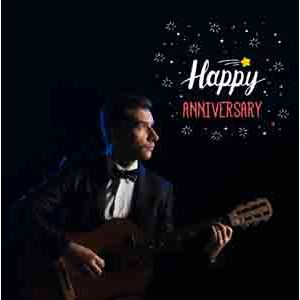 Digital Gifts-Anniversary Special Guitarist on Video Call 10 15 Mins