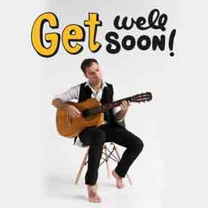 Digital Gifts-Get Well Soon Special Guitarist on Video Call 10 15 Mins